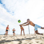 Beach sport activities in Lloret