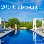 Hooray! Holiday season has started: for 4 days, enjoy our Celebration Discount on your villa!