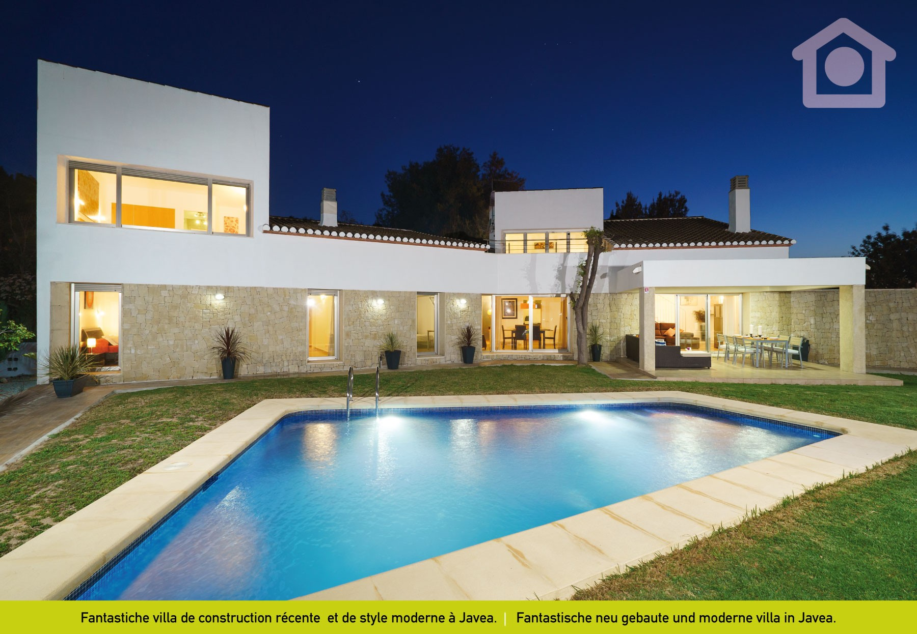 Casa de vacaciones costa blanca javea espa a jewel for Casa moderna javea